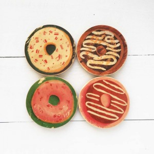 Creatively Daring Donut Coasters