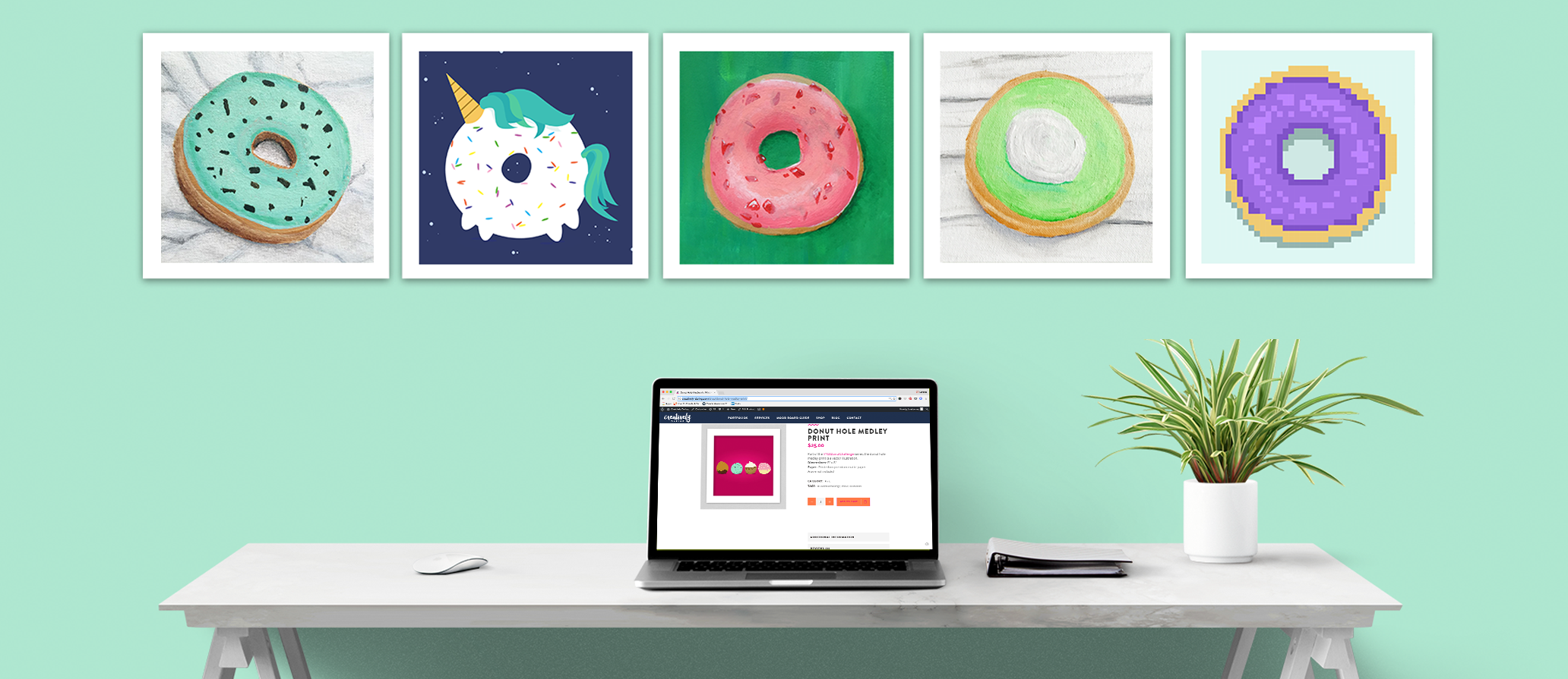 Creatively Daring Donut art prints