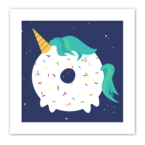 unicorn donut vector art