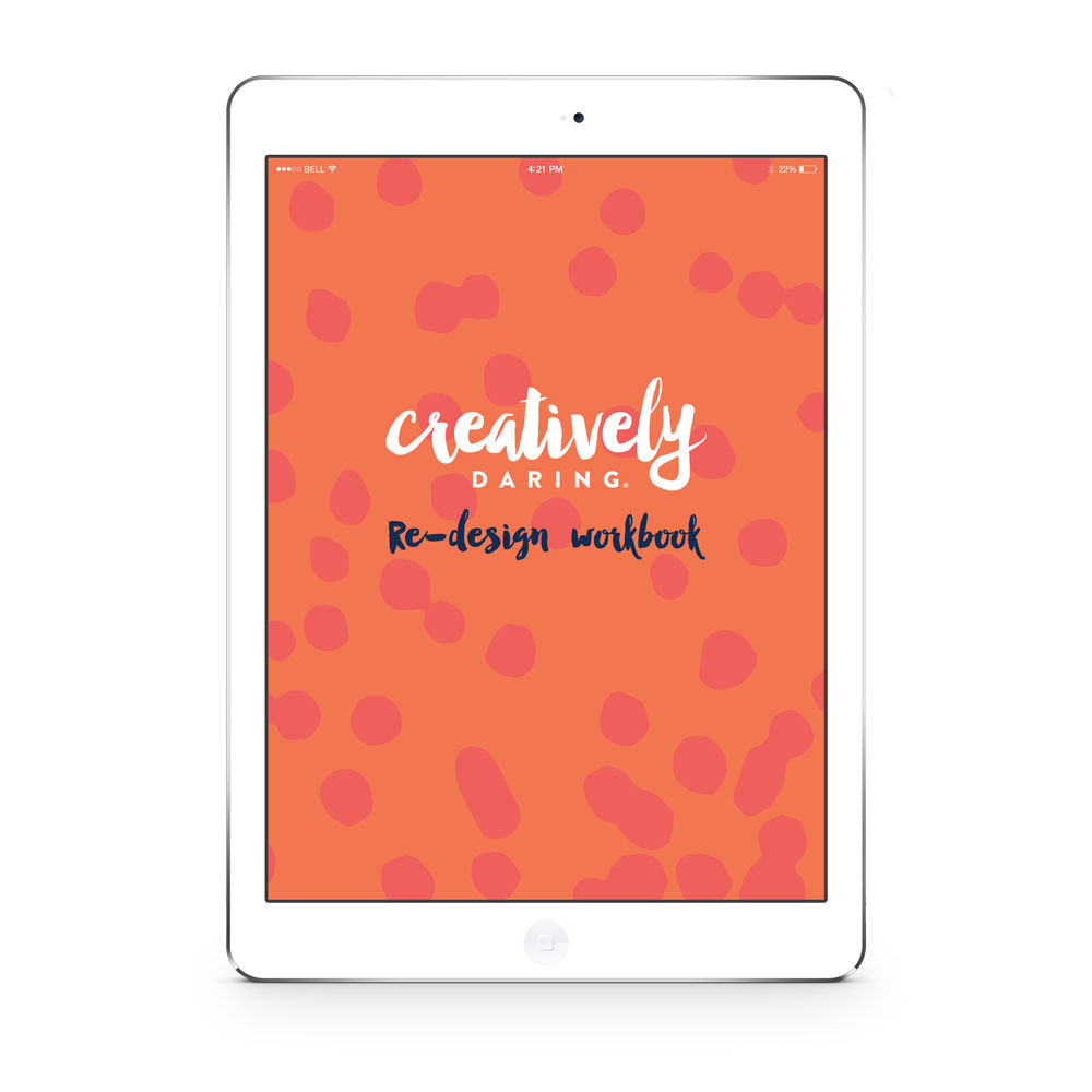 Creatively Daring | Website and branding re-design workbook